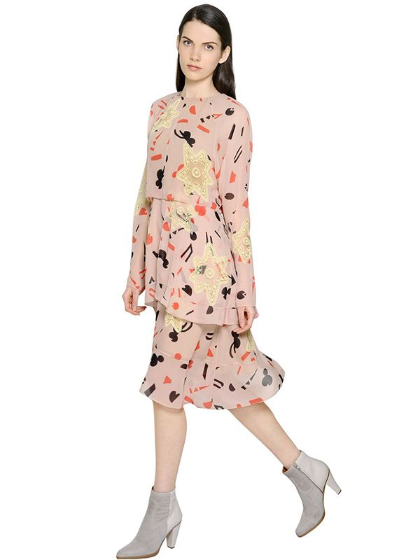 Chloe Abstract Printed Silk Georgette Dress