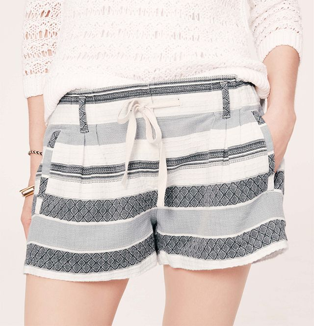 Lou & Grey Texture Stripe Shorts