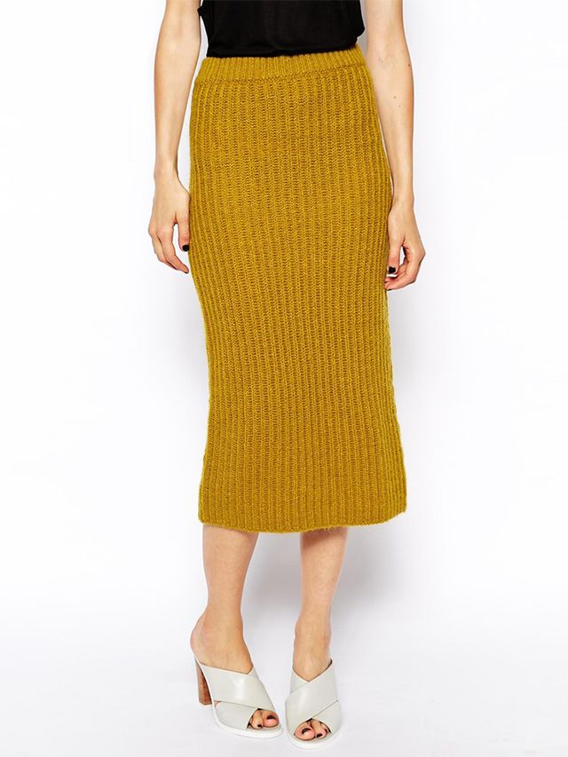ASOS Knitted Rib Skirt