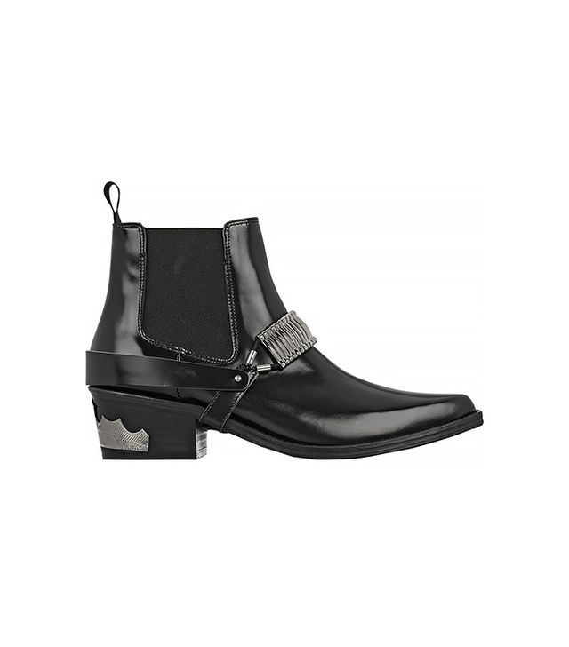 Toga Pulla Embellished Leather Chelsea Boots