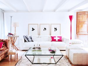 Get the Look: A Living Room With Perfect Pops of Red