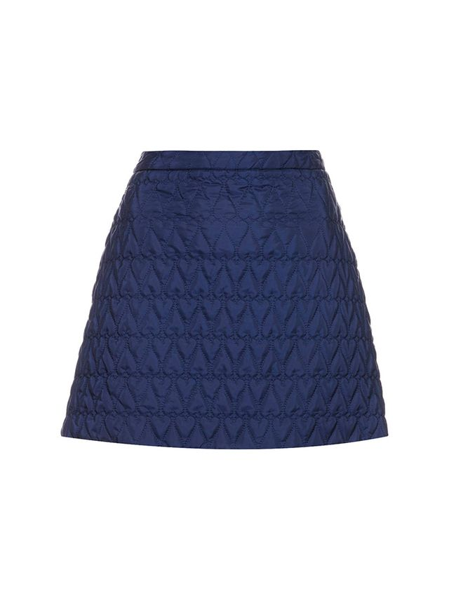 Topshop Quilted Heart A-Line Skirt