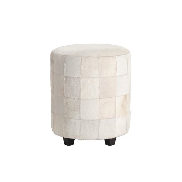 Arteriors Wimberely Patchwork Leather Ottoman