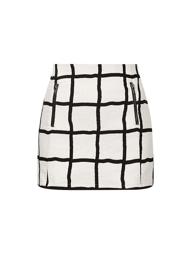 Topshop Window Pane Pelmet Skirt