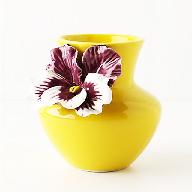 Anthropologie Pretty Pansy Vase