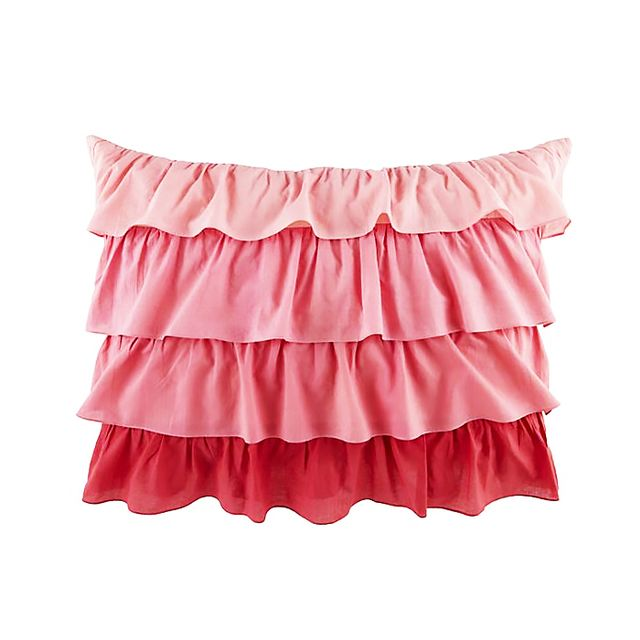 Land of Nod Fade to Pink Ruffle Sham