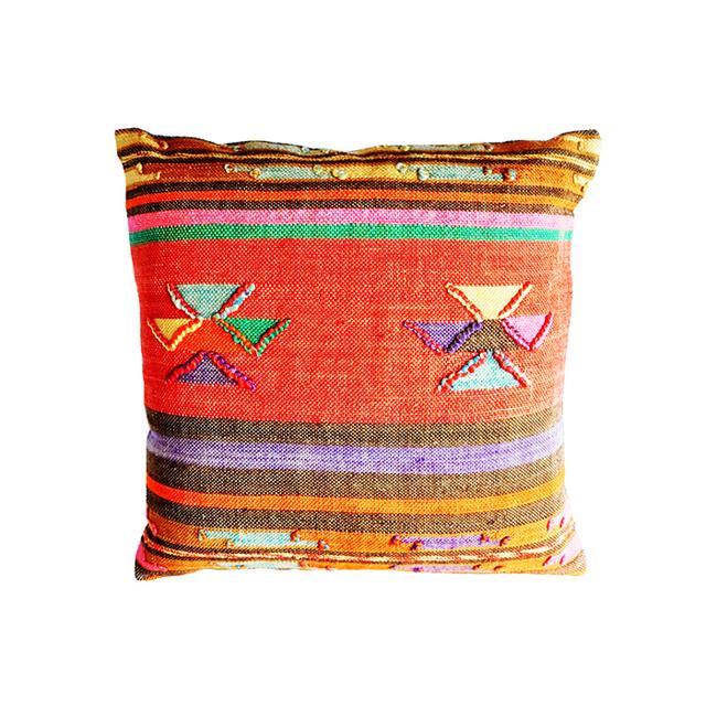 """Leif 20"""" Artisan Stripe Kilim Pillow"""
