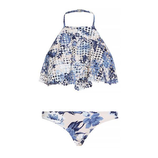 Zimmermann Hydra Perforated Halter Bikini