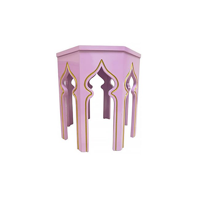 One Kings Lane Lilac Moroccan-Style Side Tables