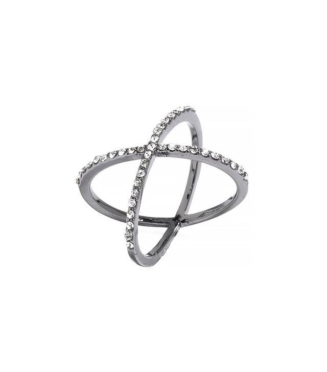 Bauble Bar Crystal Mason Ring