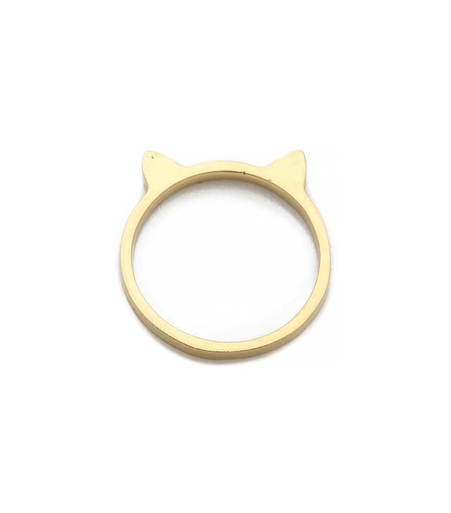 Jacquie Aiche Plain Kitty Ear Waif Ring