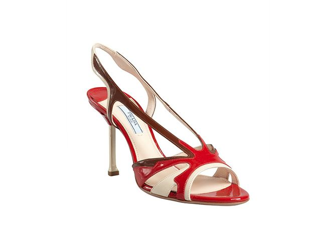 Prada Colorblock Leather Sandals