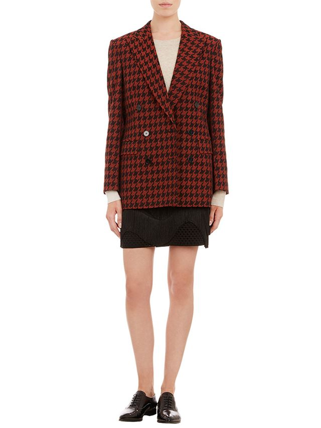 Stella McCartney Houndstooth Check Double-Breasted Blazer