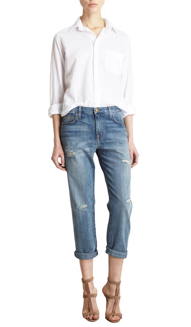 Current/Elliott Boyfriend Cropped Jeans