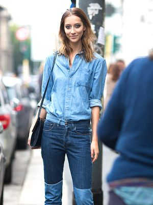 The Secret to Pulling Off an All-Denim Outfit