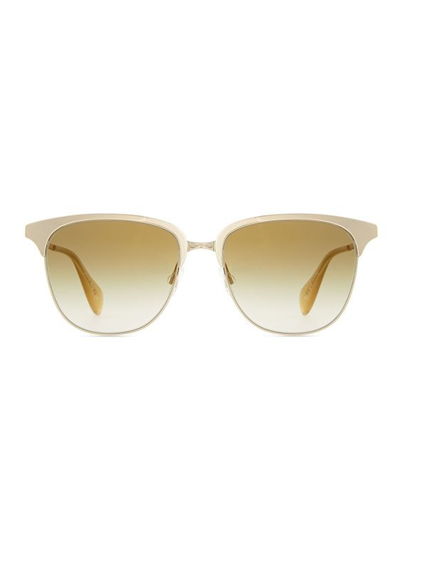 Oliver Peoples Leiana Metal Half-Rim Sunglasses