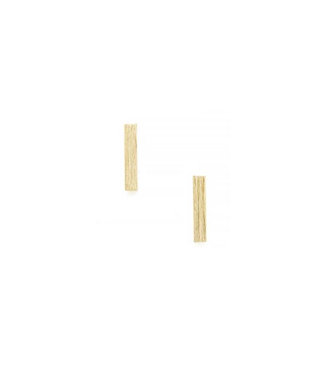 Jewelíq Brushed Bar Stud Earrings