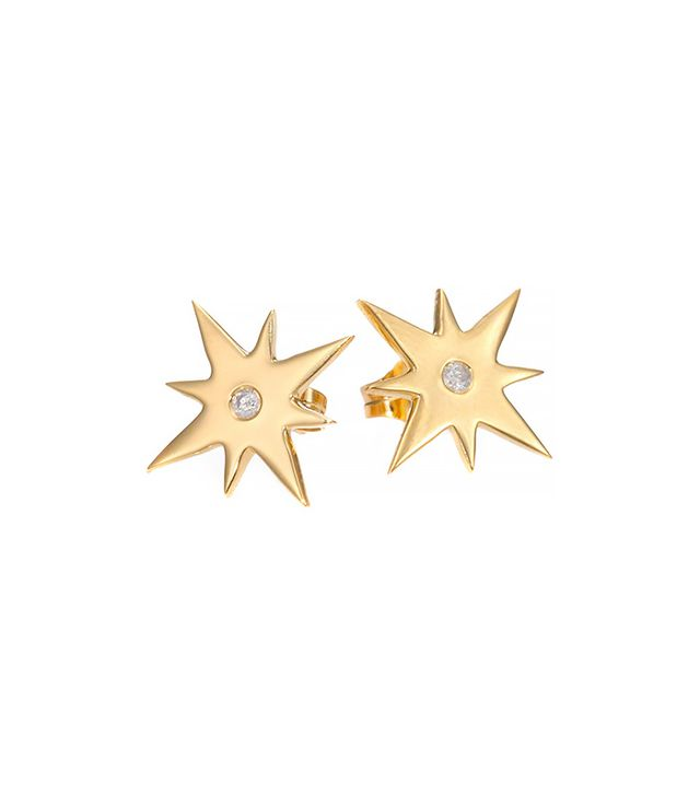 Jennifer Zeuner Jewelry Diamond Starburst Stud Earrings