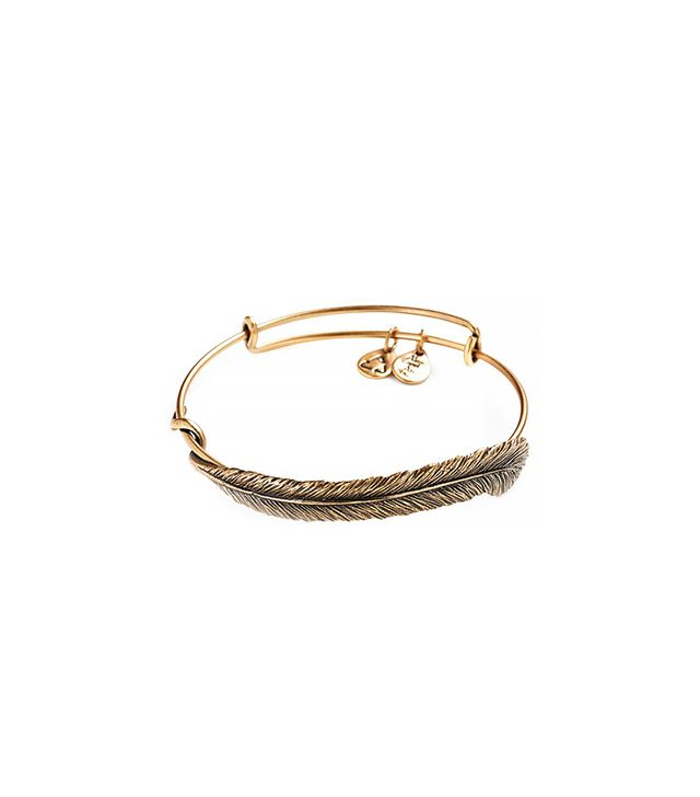 Alex and Ani Plume Feather Wrap Bracelet