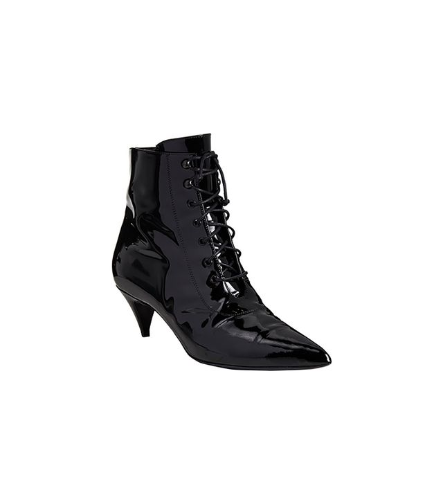 Saint Laurent Point-Toe Ankle Booties