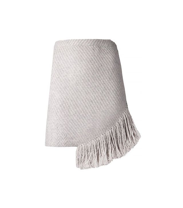 Thakoon Addition Fringed Knit Wool Skirt