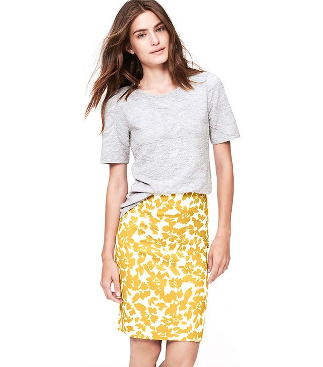 LOFT Autumn Bloom Pencil Skirt