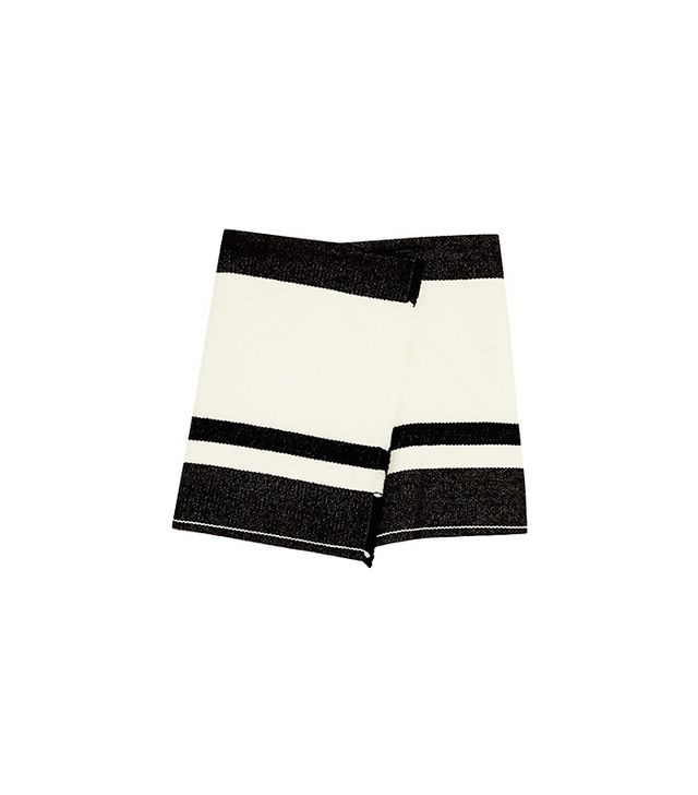Isabel Marant Adelaide Wool-Blend Wrap Mini Skirt