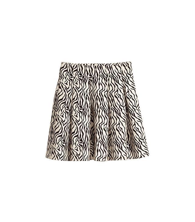 H&M Textured-Weave Skirt