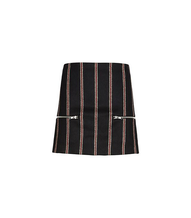 Elizabeth and James Raya Striped Zipper Skirt