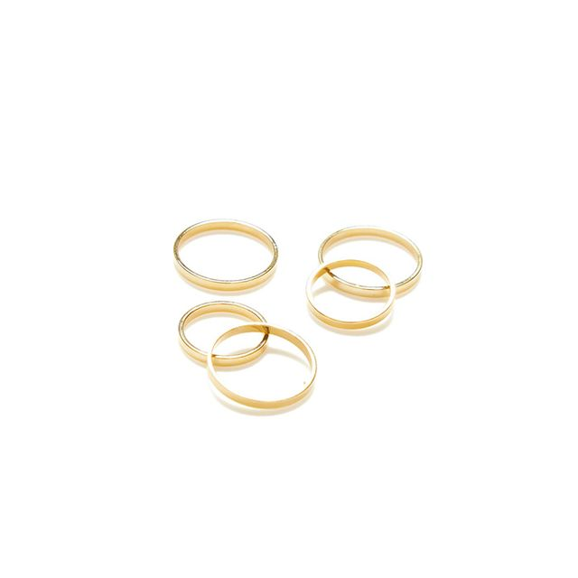 Jeweliq Slim Five-Ring Set