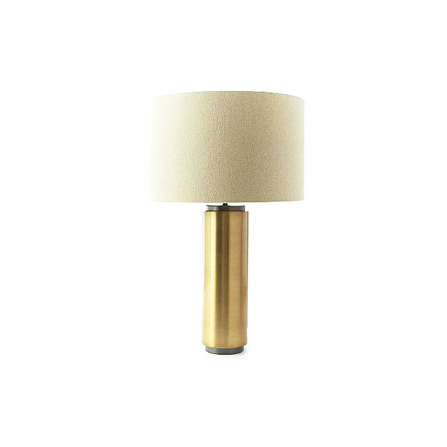 West Elm Brass Pillar Table Lamp