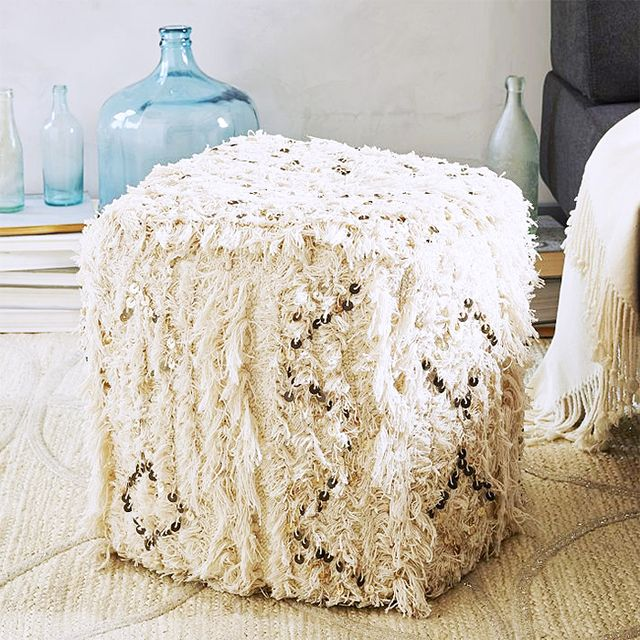 West Elm Moroccan Wedding Pouf