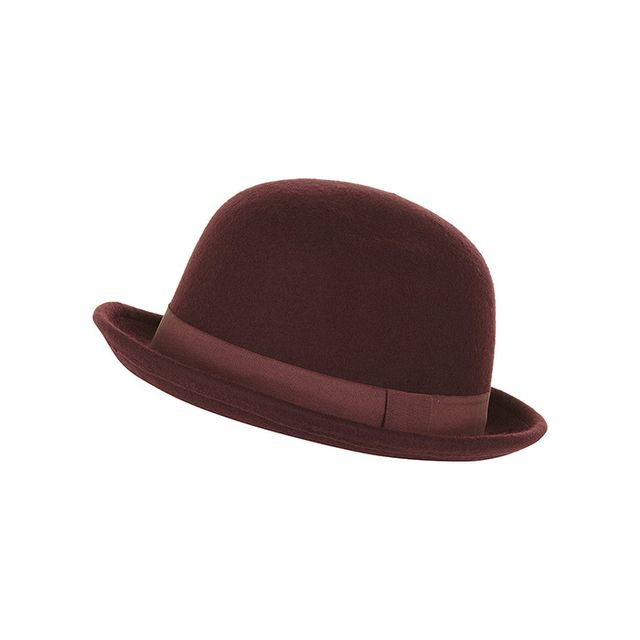 Dorothy Perkins Wine Felt Bowler Hat