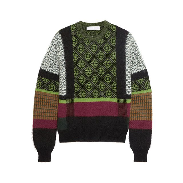 Toga Intarsia Mohair-Blend Sweater