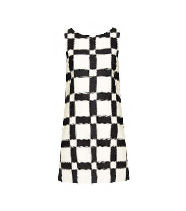 Black and white sixties dress