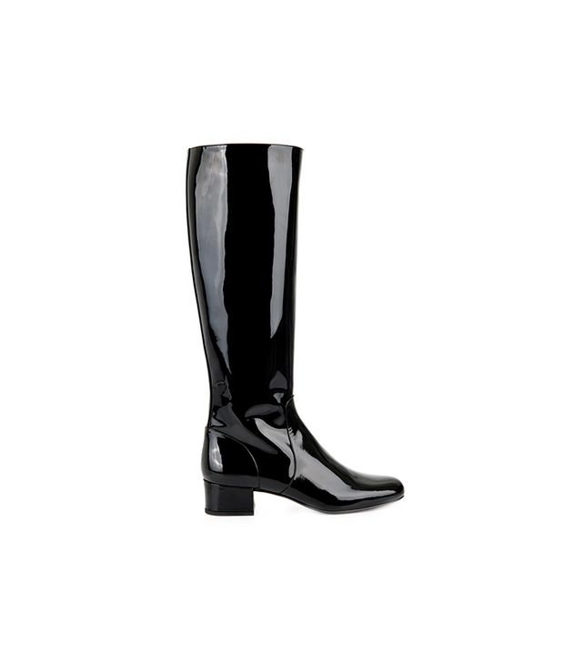Saint Laurent Babies Patent Leather Boots