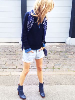 How to Wear Your Jean Shorts During Fall