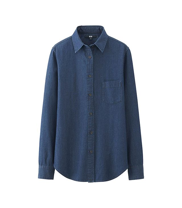 Uniqlo Denim Long Sleeve Shirt