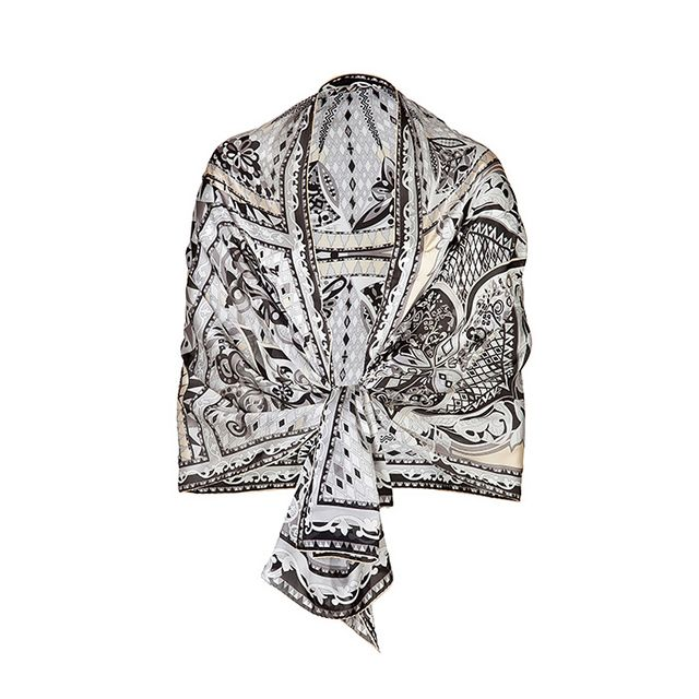 Emilio Pucci Silk Printed Shawl