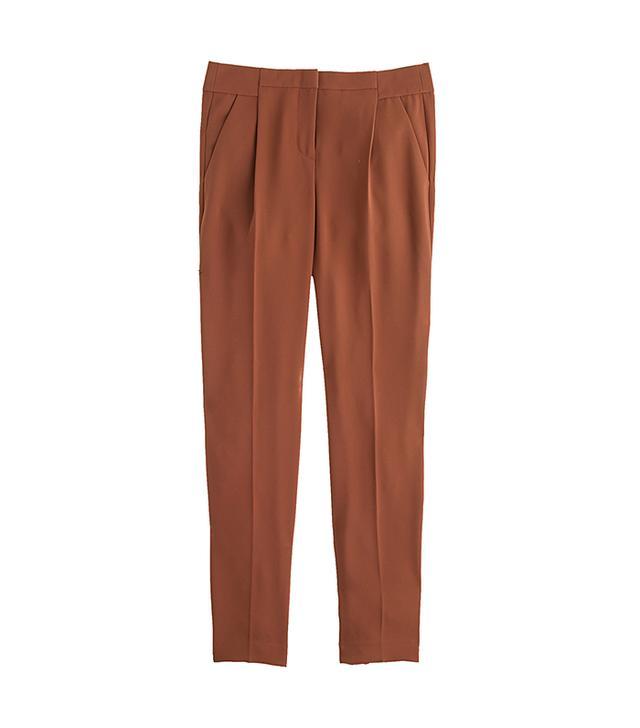 J. Crew Pleated Crepe Pants
