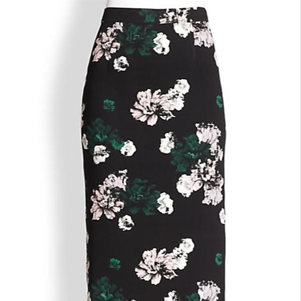 A.L.C. Bell Silk Floral-Print Skirt