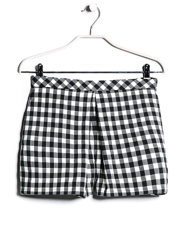 Mango Gingham Checked Shorts