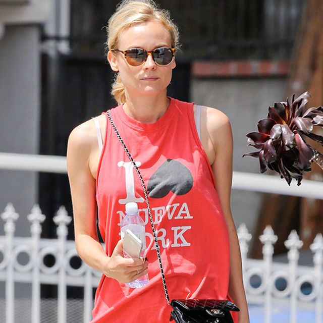 Diane Kruger's High Fashion Workout Gear