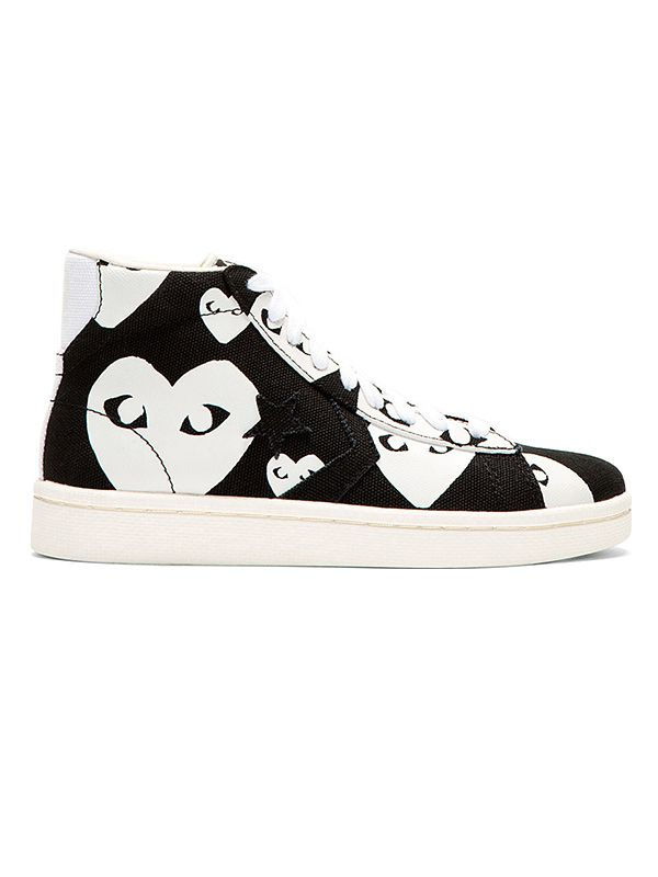 Comme Des Garcons Play Printed Hi-Top Trainers