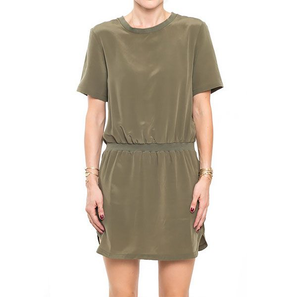 Anine Bing Army Silk Dress