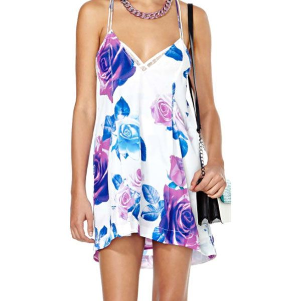 Nasty Gal Nasty Gal x Shakuhachi Coming Up Roses Shift Dress