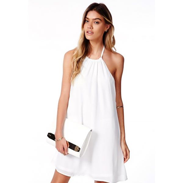 Missguided Laslie Strappy Swing Chiffon Dress