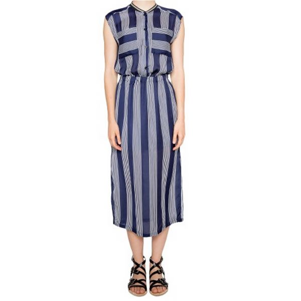 Pixie Market Magda Striped Midi Dress