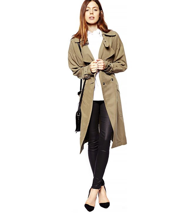 ASOS Trench In Oversize Drape