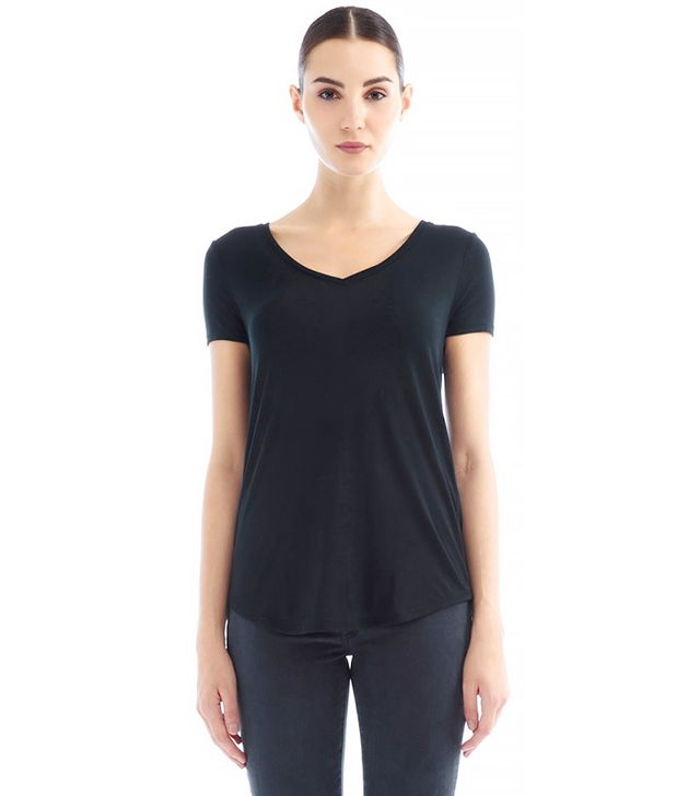 Three Dots Gisele V-Neck Easy Fit Tee